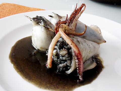 calamari ripieni riso nero