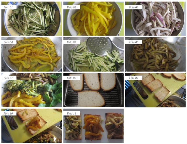procedimento bruschette verdure