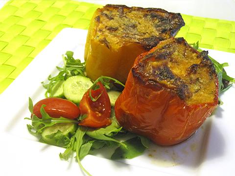 peperoni ripieni di ricotta e zucchine