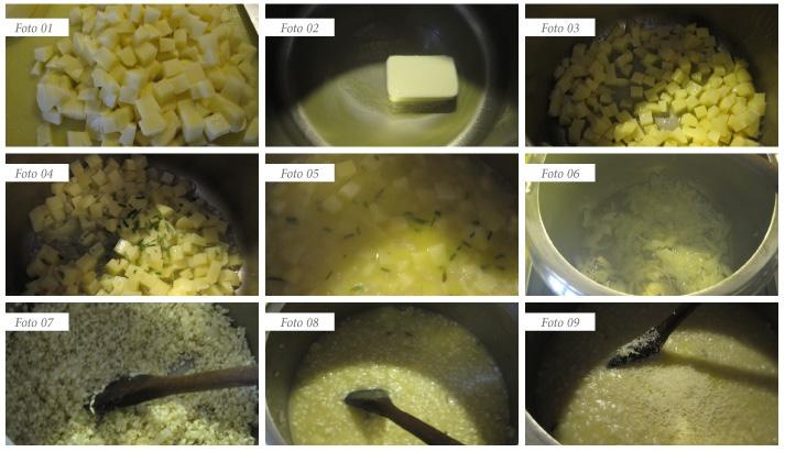 passaggi risotto con le patate