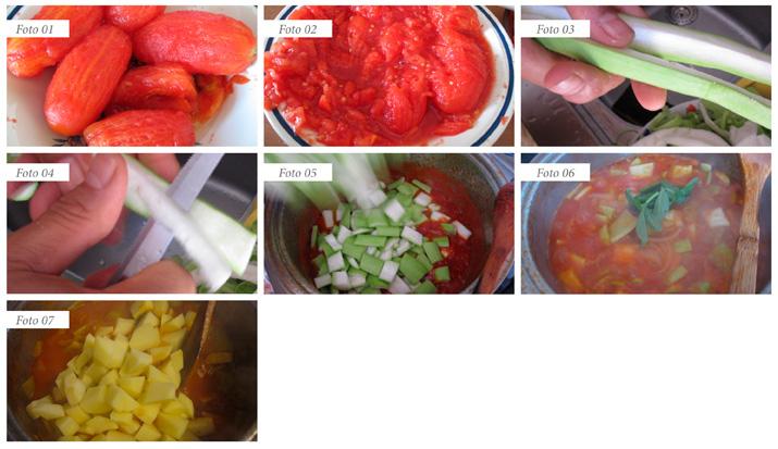 passaggi minestra zucchine lunghe