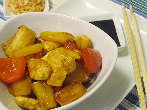 pollo ai peperoni con zeste di limone