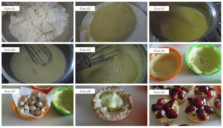 procedimento pasticcini con le ciliegie