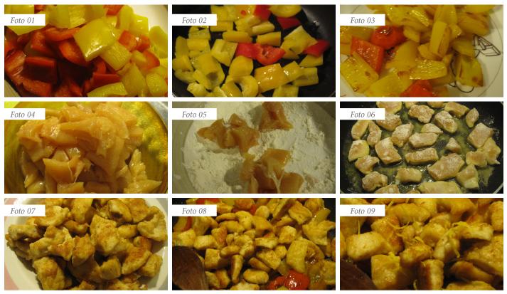 procedimento pollo ai peproni zeste di limone