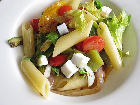 summer pasta con le verdure grigliate