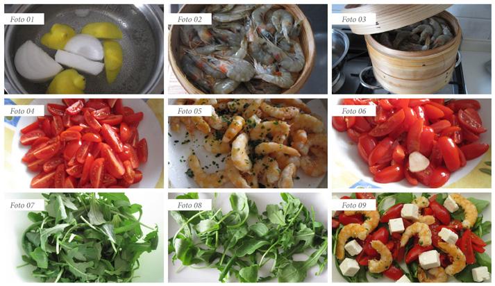 passaggi insalata di gamberetti rucola pomodorini e feta