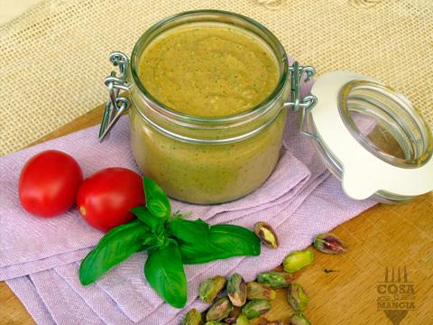 pesto di pistacchi alla siciliana