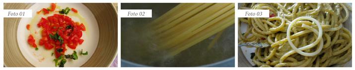 slide bucatini al pesto di pistacchi