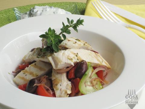 insalata greca con il pollo