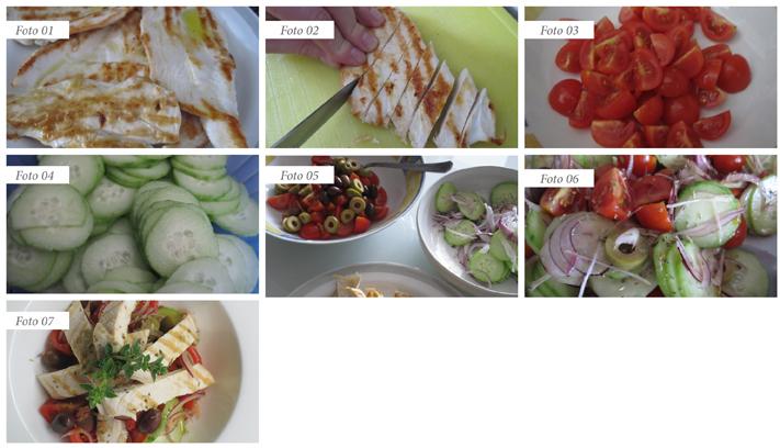 passaggi insalata greca con il pollo