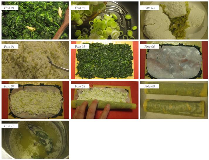 passaggi involtini di ricotta prosciutto e spinaci