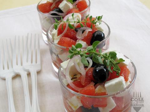 insalata neo greca con anguria