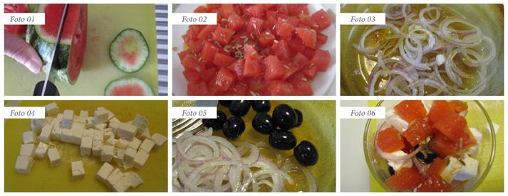 passaggi insalata neo greca con anguria