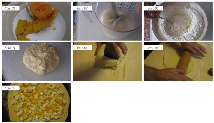passaggi pizza zucca e gorgonzola