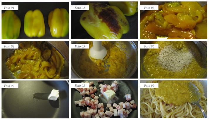 passaggi finta carbonara di peperoni
