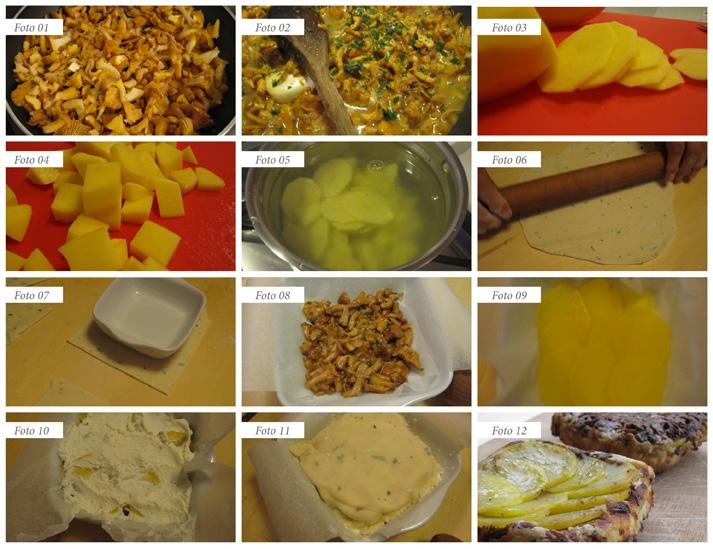 passaggi tatin finferli e patate