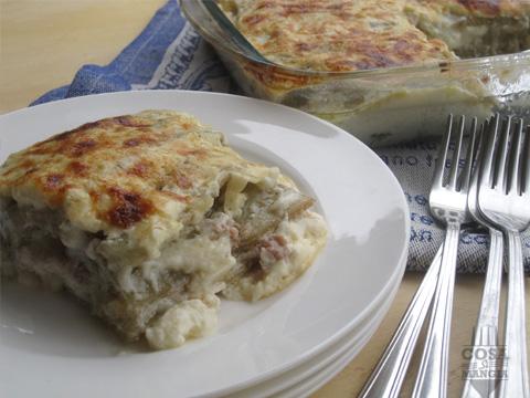 ricetta lasagne cardi e salsiccia