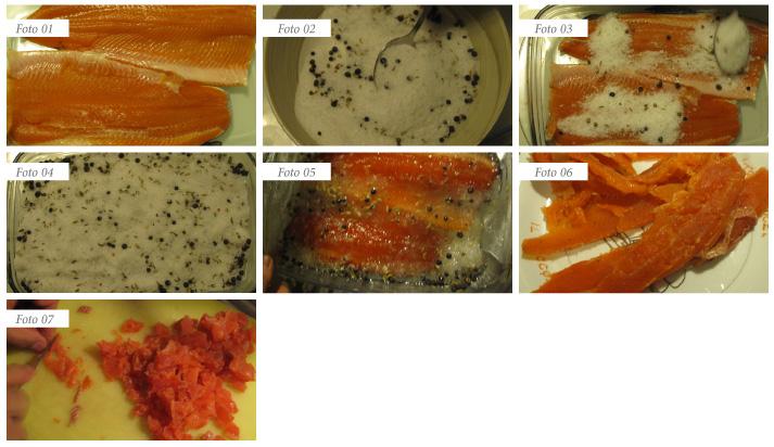 passaggi ricetta tartare trota salmonata