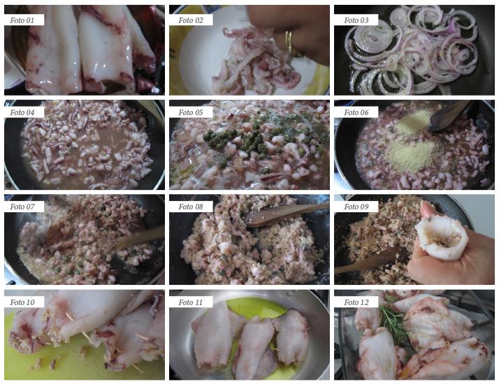 passaggi ricetta totani al rosmarino ripieni di cous cous