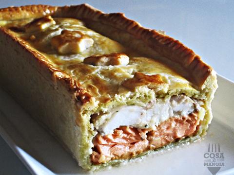 pie salmone e porcini
