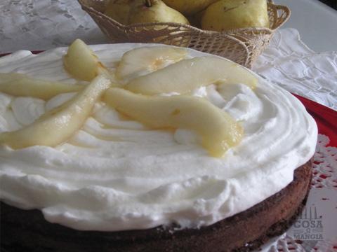 torta panna e pere